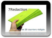7Redaction, pack de 20 courriers rédigés