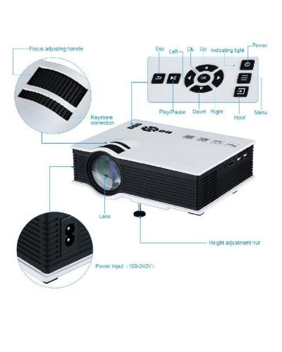UNIC UC40 Entertainment LED Projector avc cle hdmi